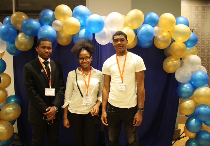 Scholarship recipients Mohamed Kamal Umar, Aeshatou Samassa , and Frankie Williams