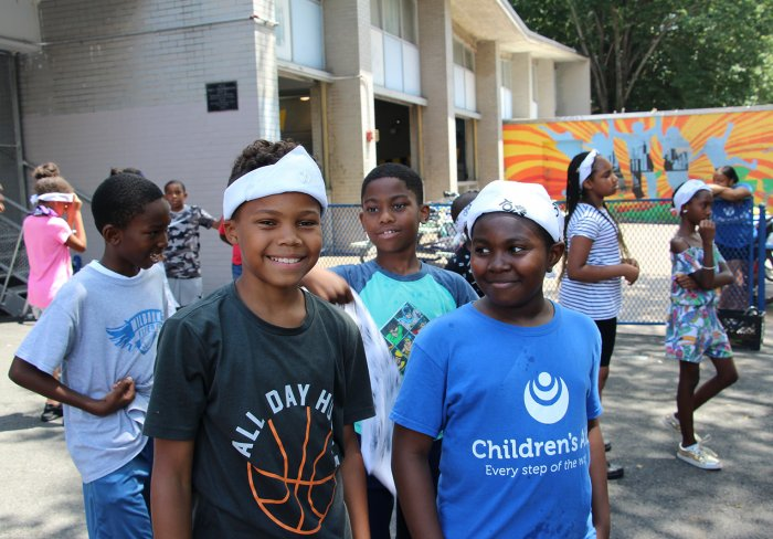 Children and youth attend Peacock Games at Dunlevy Milbank Center