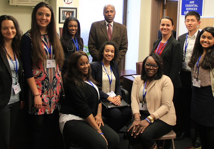 Fostering Youth Success Alliance advocates and New York state assemblymember.
