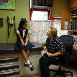 Student visiting a School Based Health Center clinic