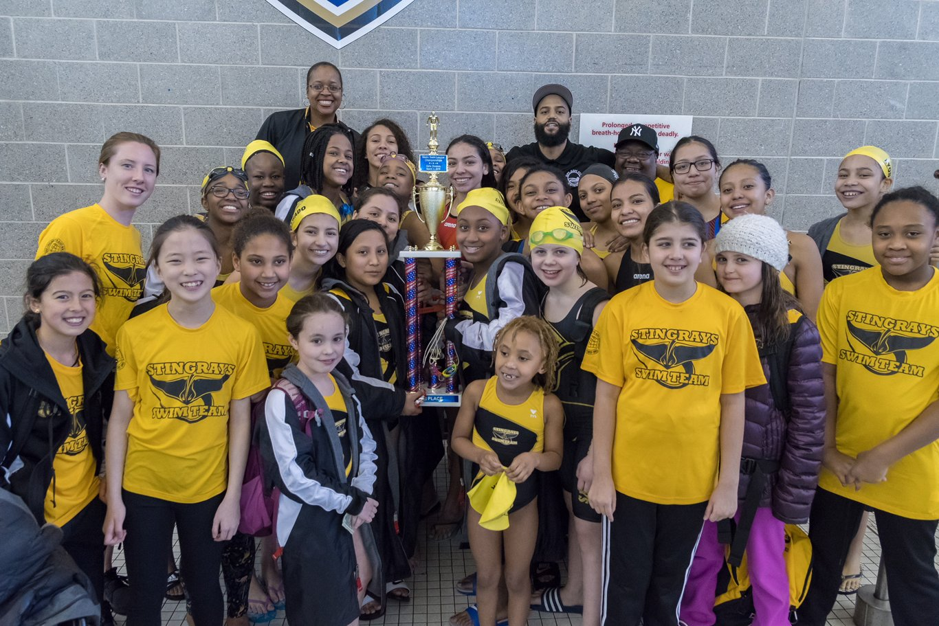 2018 Milbank Stingrays Swim Team wins league championships